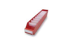 Lagerlåda 500x90x95 | Röd | 40 st