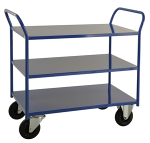 Rullvagn, 3-plan, 1080x450x955 mm, Blå