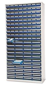 Backskåp inkl. 124 modulbackar   Grå/Blå