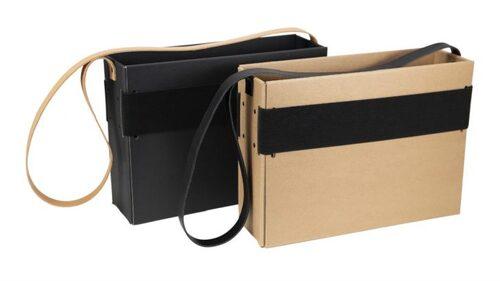 Mobil förvaringsbox med axelrem, läder