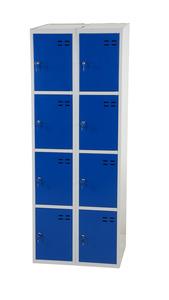 Kläd- och förvaringsskåp med 8 fack, Blå