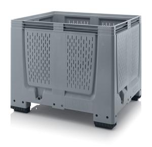 Plastlåda stor med ventilation 120x100x100 | 4 fötter