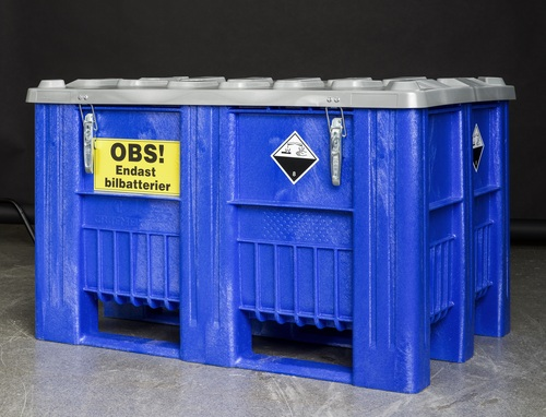 Stor plastlåda med lock | För batterier