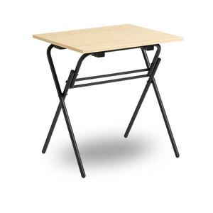 Fällbart skrivbord, Examen, svart/björk