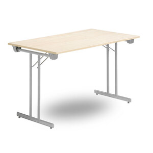 Fällbart skrivbord, FLITIG 1200 x 800 x 730, Silvergrå/Björk