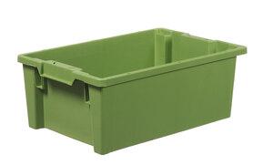 Stapelbar plastback 40 L   600x400x220 mm   Grön