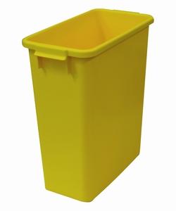 Plastkärl, 60 L, Gul