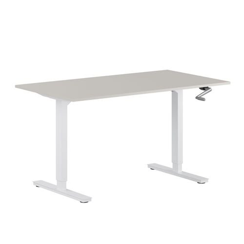 Höj- och sänkbart skrivbord med vev StepUp 120V