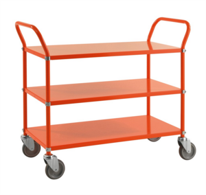 Rullvagn med 3 hyllor, Orange