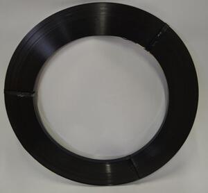 Enkelspolat stålband, 16 mm, ca 400 m, 25 kg/rulle, inv.Ø 300 mm