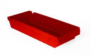 Lagerlåda 6L  600x230x115   Röd   24 st