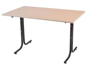 Millie bord, 1600x800, Vit/Svart