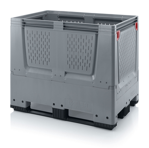 Fällbar plastcontainer med ventilation, liten | 3 medar