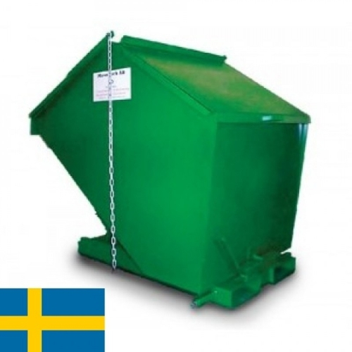 Tippcontainer med lock